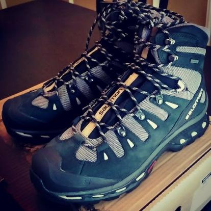 hiking boots, essentials, salomon boots, salomon quest 4d 2 gtx